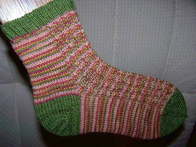 Easy Sock Knitting Pattern Free : Easy sock pattern knitting pinterest