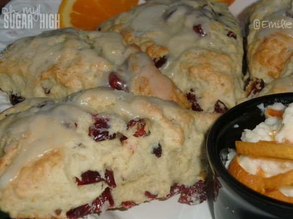 Cranberry scones with orange .... not for the faint of heart, or ...