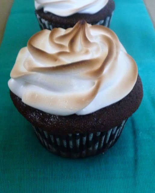 ... Good: Chocolate Cupcakes with Toasted Marshmallow Meringue Frosting