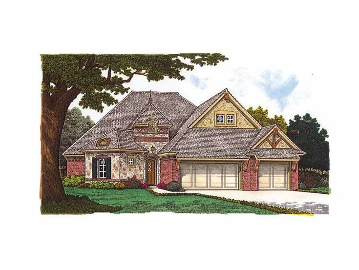 Eplans french country house plan three bedroom tudor for 3 bedroom country house plans