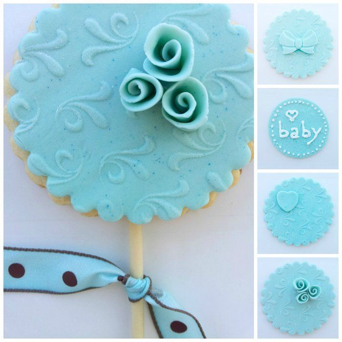 Tiffany Blue Cookie & Cupcake Toppers #tiffany co #Jewelry