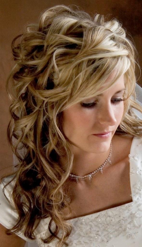 s curl hairstyle : Romantic wedding hairstyle Rustic Vintage Wedding Pinterest