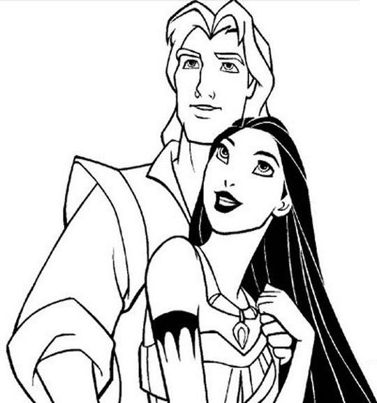 free pocohantas coloring pages - photo#17