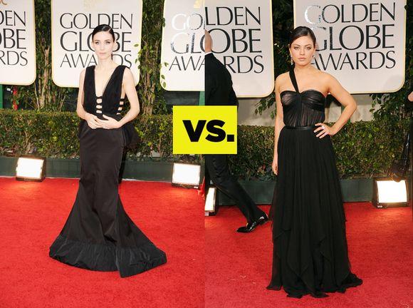 Rooney Mara vs Mila Kunis: Who rocked black at the Golden Globes better?  http://bit.ly/xSt3w4