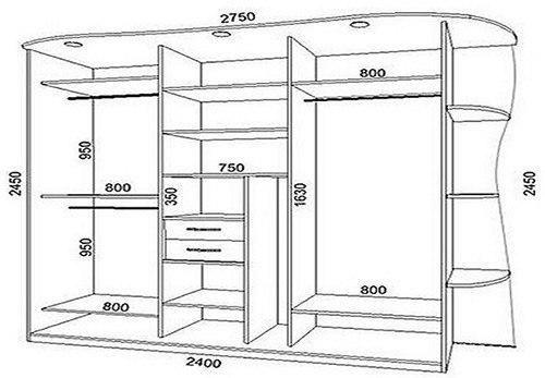 Шкафы купе чертежи и схемы