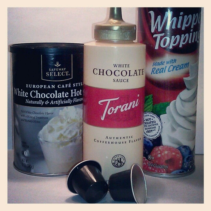 ... chocolate hot cocoa mix, top it with whipped cream and a drizzle of