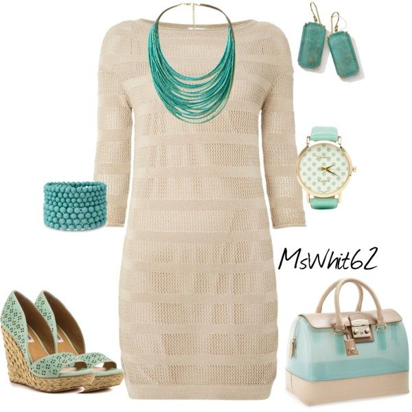 """Mint & Beige Color Combo"" by mswhit62 on Polyvore"