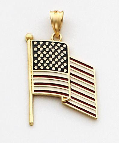 american flag yellow fringe