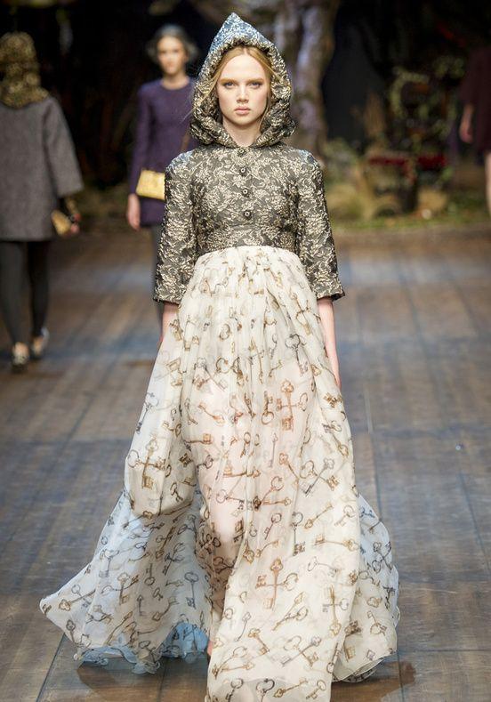 Dolce & Gabbana Milan Fashion Week Fall Winter 2014-2015 Glamour