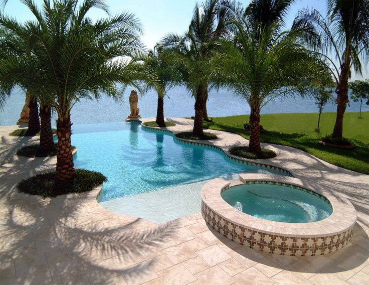 Beach Entry Pool Pools And Water Stuff Pinterest
