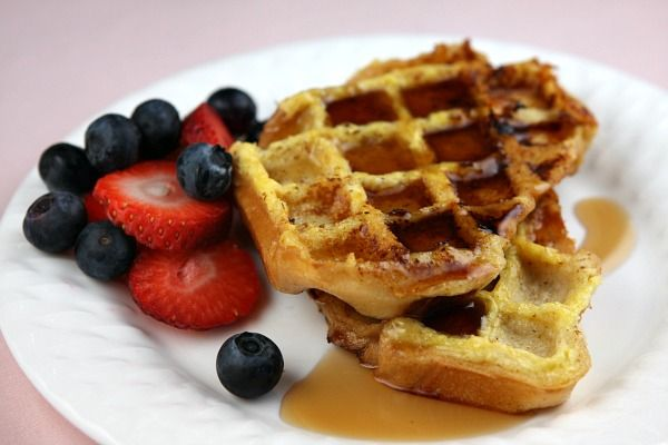 french toast waffles...lol sometimes I can't decide if I want waffles ...