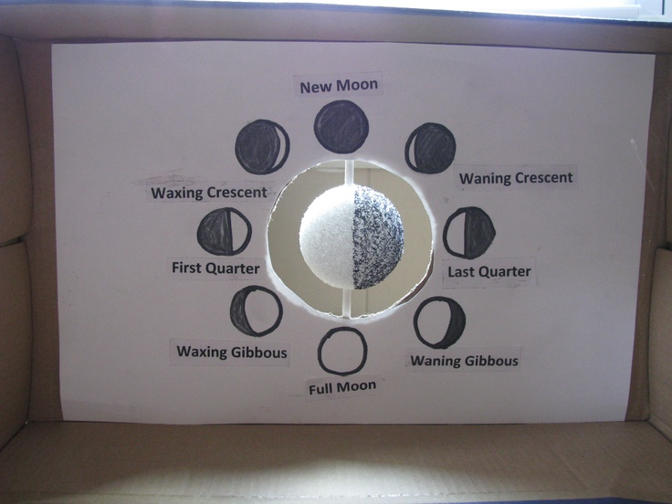 """... """" Moon Phase Science Project 