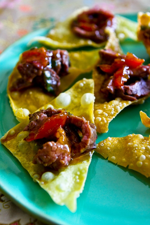 ... tortilla cups smoky beef chili with tortilla chip crust wonton soup