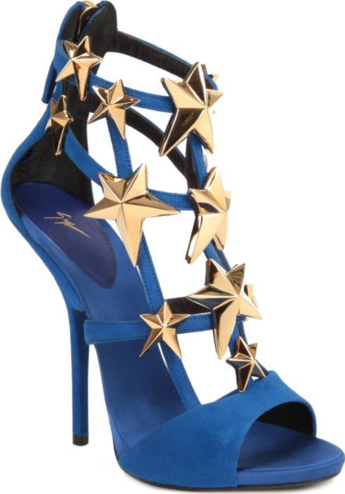 Giuseppe Zanotti wonder woman or captain america costume looking shoes