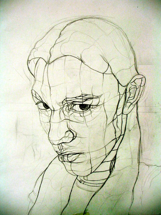 Contour Line Drawing Makeup : Contour drawing of a face art pinterest
