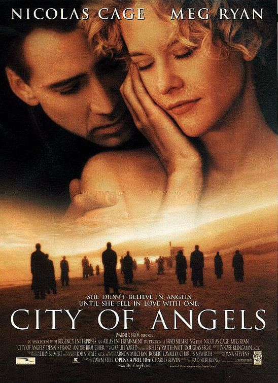 City of Angels - Meg Ryan & Nicolas Cage. Such a beautiful movie. One of my all time favorites. You must see it!