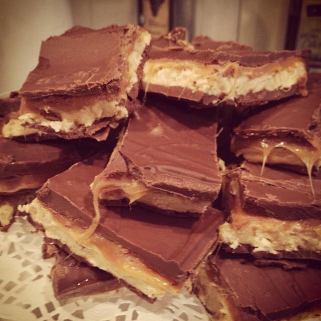 Homemade snicker bars.   Foods   Pinterest