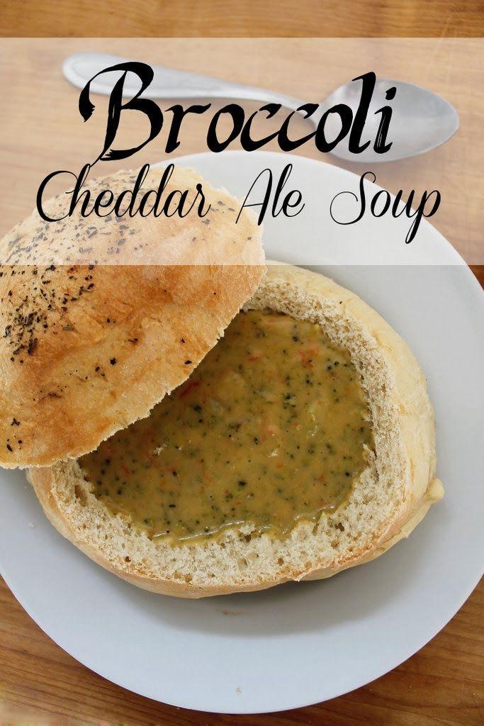 Broccoli Cheddar Ale Soup + Bread Bowls = heaven