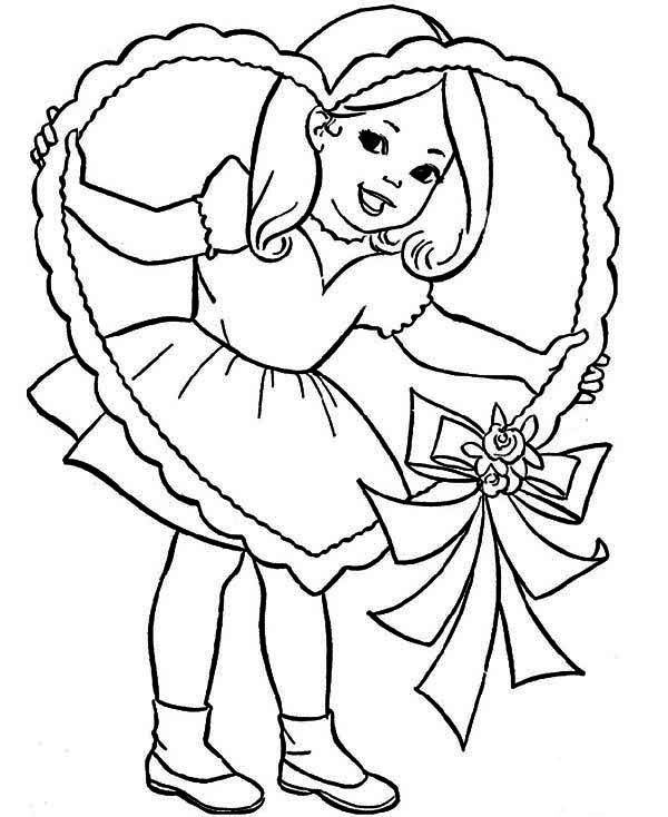 valentine coloring pages for girls - photo#16