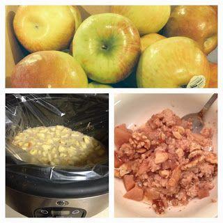 Apple Pie Steel Cut Oatmeal - Slow Cooker Recipe for Oatmeal
