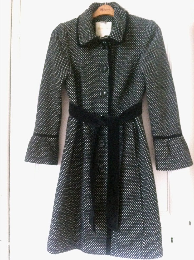 RARE MONSOON BLACK GREY WHITE POLKA DOT WINTER DRESS COAT UK18 RRP £160 ASO | eBay
