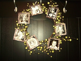 another photo wreath idea