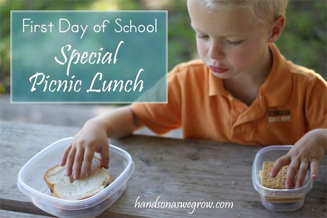 Back to school? Make it a special day with a picnic lunch! Do you have special traditions for the first day of school?