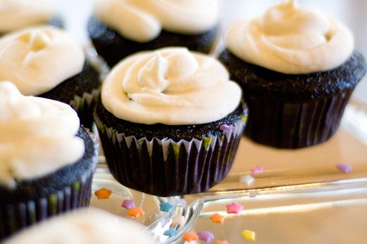 Chocolate Stout Cupcakes. Doubled this recipe: http ...