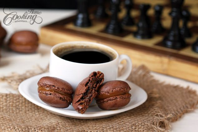 Chocolate Macarons with Salted Caramel Filling :: Home Cooking ...