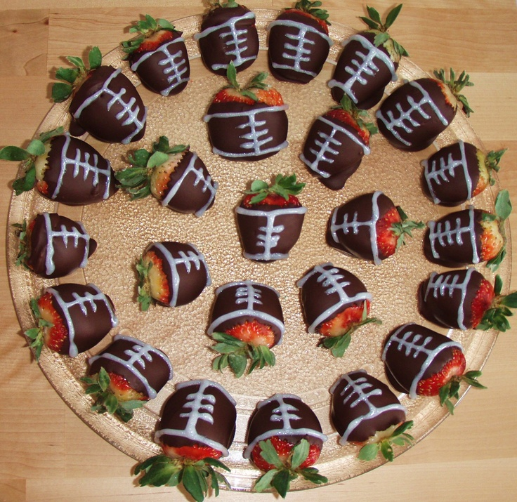 Football Chocolate Covered Strawberries! | Pinterest Projects I've Do ...