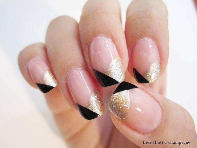 Black gold and nude nail art nail art pinterest - Nail art nude ...