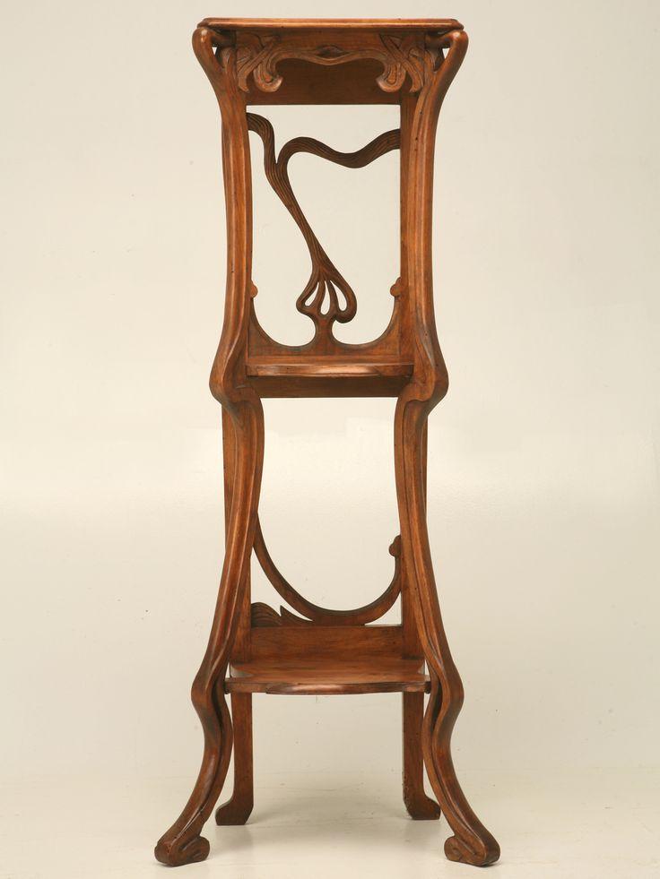 french art nouveau walnut tag re art nouveau furniture