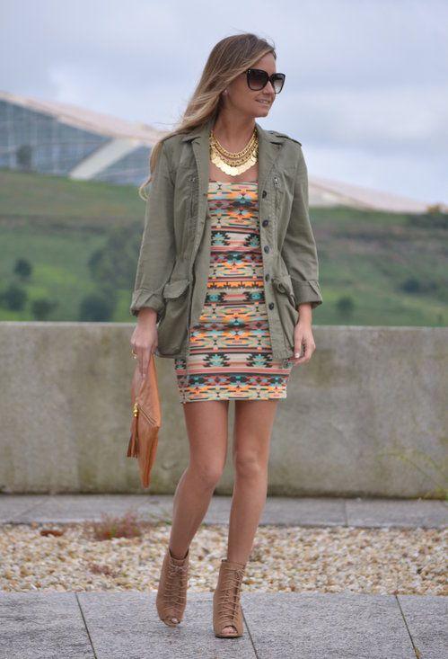 Bershkabershka  Dresses, Blancoblanco  Jewelry and Zara Jacket and Ankle Boots