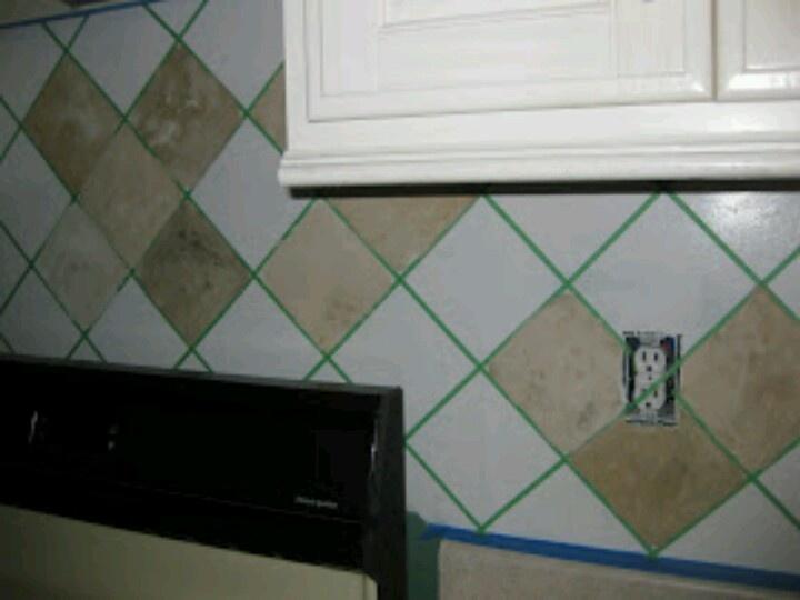 faux tile backsplash you paint dream home pinterest