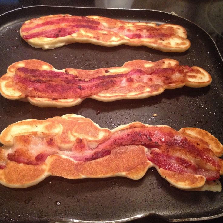 Bacon. Strip. Pancakes. | Yummy Yum Yum! | Pinterest