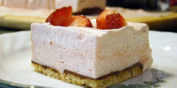Strawberry Mousse Thumb 572x284 Strawberry Mousse Squares