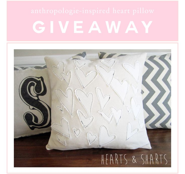 Heart Pillow Giveaway