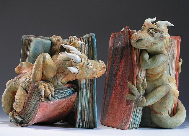Cute dragon bookends cute things pinterest - Dragon bookend ...