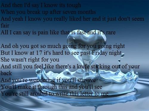 Letter to me - Brad Paisley | Lyrics I Love | Pinterest