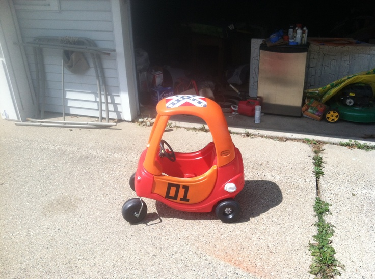 Wants to do this to kinsleys cozy coupe cozy coupe general lee