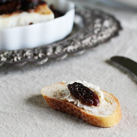 Appetizer Recipe: Roasted Feta Cheese with Fig-Thyme Compote ...