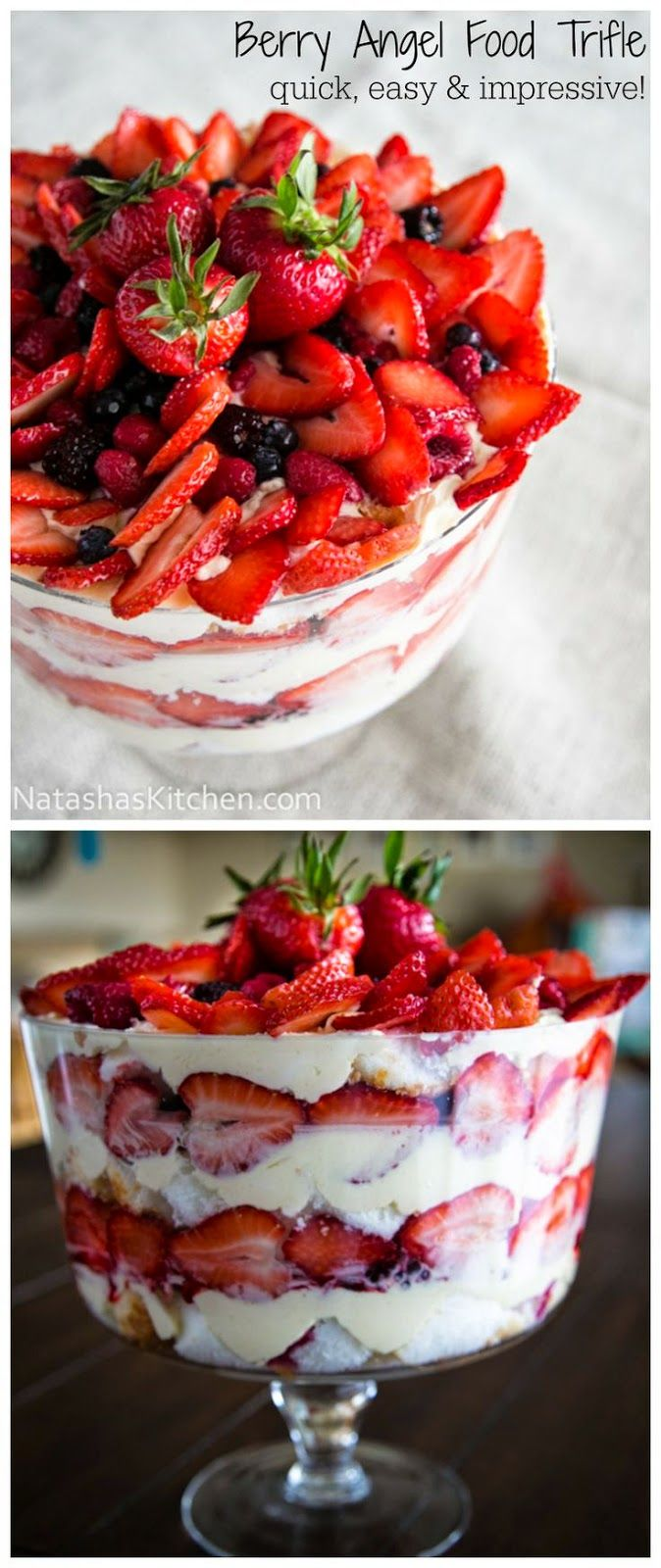 kitchen Recipes: Mixed Berry and Angel Food Trifle Recipe
