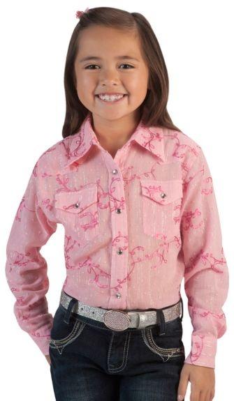 Cowgirl Hardware Toddler Swiss Dot Lurex Rhinestone Snap Western Shirt
