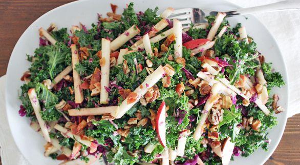 Kale, Apple & Pancetta Salad, for all the kool kids