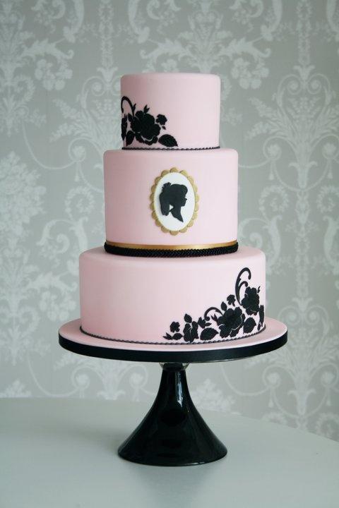 Silhouette Cake | Wedding Cake Ideas | Pinterest