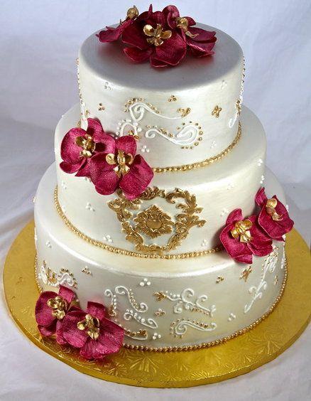 orchid wedding cake wedding cakes pinterest