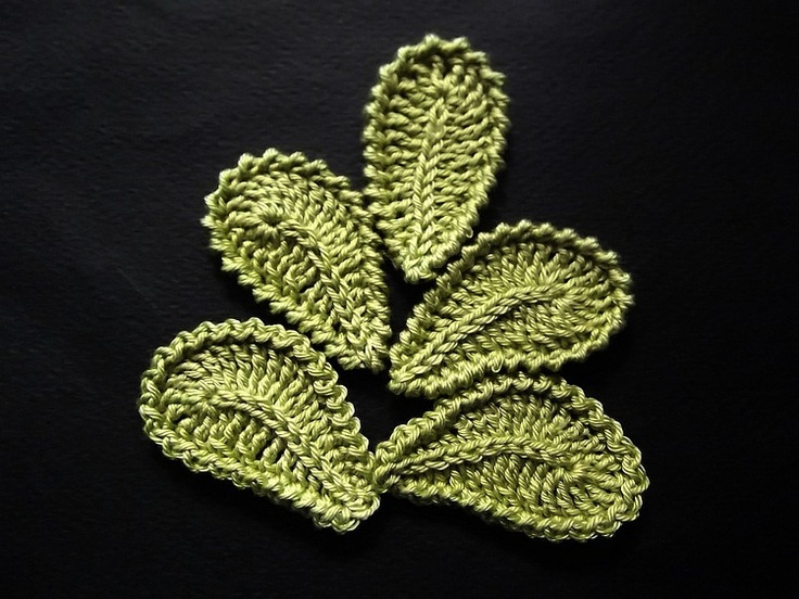 Crochet Leaf : Crochet Leaves fabric flower patterns Pinterest