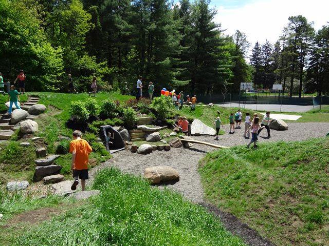 Backyard Nature Playground : Natural Playground  backyard playground  Pinterest