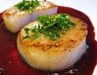 Diver Scallops with Blood Orange Sauce. We served this for dinner in ...
