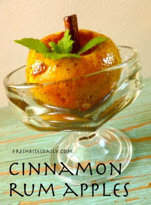 Cinnamon Rum Apples | Just deserts (yes, that's how you spell it) | P ...